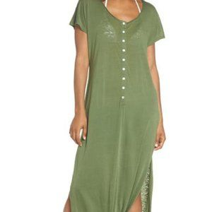 LEITH GREEN HENLEY MAXI DRESS PLUS SIZE 3X NEW